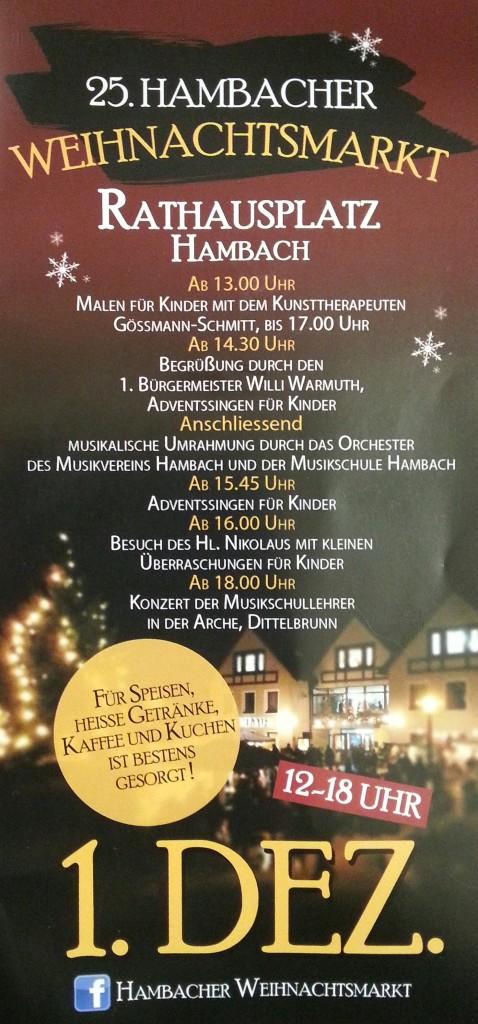 25. Hambacher Weihnachtsmarkt am 1.12.2013